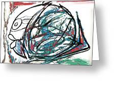 Fish Morden Art Drawing Painting Greeting Card