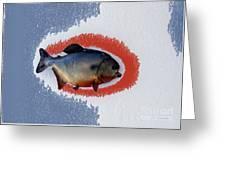 Fish Mount Set 12 B Greeting Card
