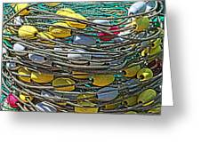 Fish Net Hdr Greeting Card