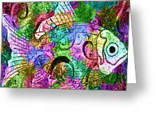 Fish Paisley Greeting Card