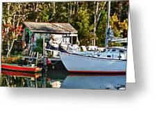 Fish Shack And Invictus Painted Greeting Card
