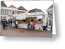 Fish Stall In The Market In Steenwijk Netherlands Greeting Card