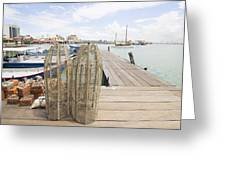 Fish Trap On Jetty In Penang Greeting Card