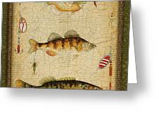 Fish Trio-c-green Greeting Card by Jean Plout