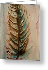 Fishbone Or Feather Greeting Card