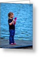 Fisher Girl Greeting Card