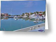 Fisher Island Marina Reflections Miami Fl 2  Greeting Card