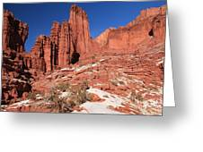 Fisher Towers Amphitheater Greeting Card