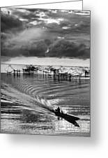 Fisherman Returns Home Greeting Card