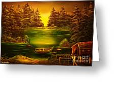 Fishermans Cabin-original Sold- Buy Giclee Print Nr 32 Of Limited Edition Of 40 Prints  Greeting Card