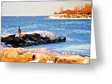 Fishermans Cove Greeting Card