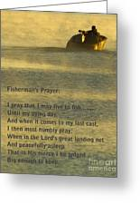 Fisherman's Prayer Greeting Card by Robert Frederick