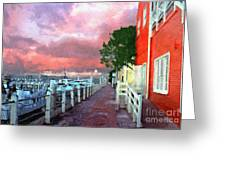 Fisherman's Village Marina Del Mar Ca Greeting Card