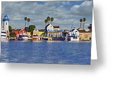 Fisherman's Village Marina Del Rey Ca Greeting Card
