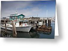 Fishermans Wharf In Monterey Greeting Card