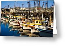 Fishermans Wharf San Francisco Greeting Card