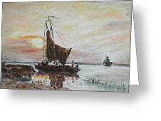 Fishermens Sunset Greeting Card