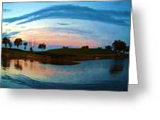 Fisheye Sunset Greeting Card