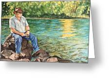 Fishing At Aviemore Greeting Card