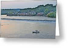 Fishing At Boathouse Row Greeting Card