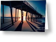 Fishing At Frisco Outer Banks Greeting Card