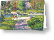 Fishing At Kennedy Meadows Greeting Card