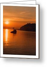 Sunset At Dash Point Greeting Card