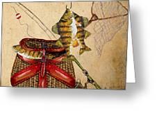 Fishing Basket  Greeting Card