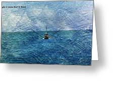 Fishing Boat As A Painting 2 Greeting Card