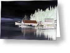 Fishing Boat Dock - Ketchican - Alaska - Photopower 01 Greeting Card
