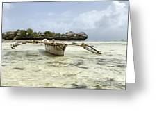 Fishing Boat In Zanzibar Greeting Card