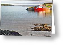 Fishing Boat Intwillingate Harbour-nl Greeting Card
