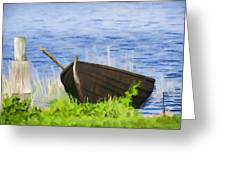 Fishing Boat On The Volga Greeting Card