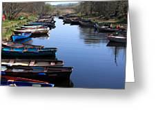 Fishing Boat Row Greeting Card