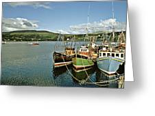 Fishing Boats At Uig Skye Scotland 1994 Greeting Card by David Davies