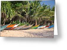 Fishing Boats B Mirissa Beach Greeting Card
