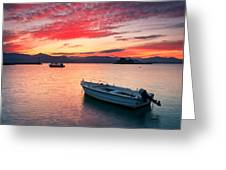 fishing boats 'II Greeting Card