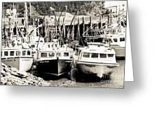 Fishing Boats In Alma Greeting Card
