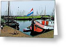Fishing Boats In Enkhuizen-netherlands Greeting Card