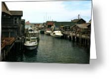 Fishing Boats In Fishtown Greeting Card