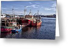 Fishing Boats In Killybegs Donegal Ireland Greeting Card