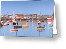 Fishing Boats In The Howth Marina Greeting Card