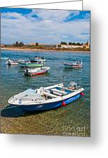 Fishing Boats Greeting Card by Luis Alvarenga