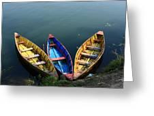 Fishing Boats - Nepal Greeting Card