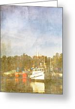 Fishing Boats Newport Oregon Greeting Card by Carol Leigh