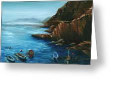 Fishing Boats Of Rio Maggiore Greeting Card