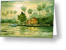 Fishing Cabin - Aucilla River Greeting Card