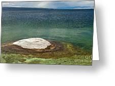 Fishing Cone In West Thumb Geyser Basin Greeting Card