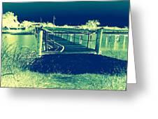 Fishing Dock Greeting Card