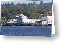 Fishing Docks On Puget Sound Greeting Card